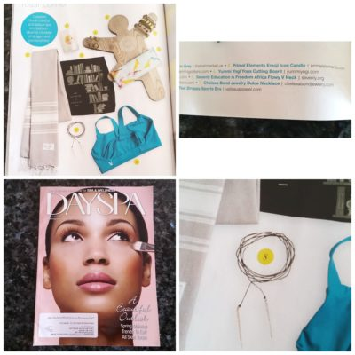 Chelsea Bond Jewelry featured in DAYSPA Magazine