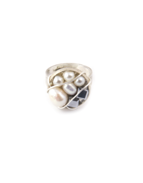 MEXICO PETIT MOON WIRE-WRAPPED RING