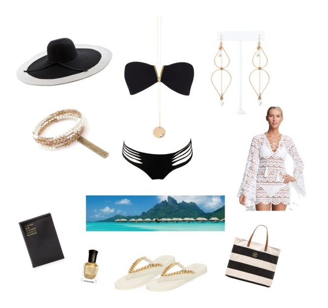 Resort Bombshell Look: Black | White | Gold