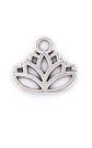 Silver lotus charm.