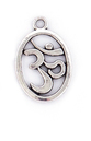 Oval silver ohm charm