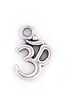 silver oval ohm charm