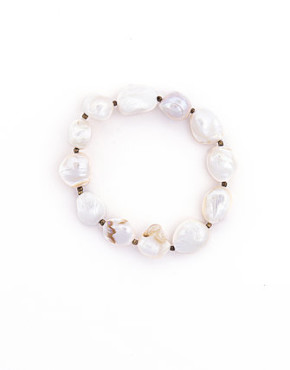 Baroque Pearl bracelet beach jewelry