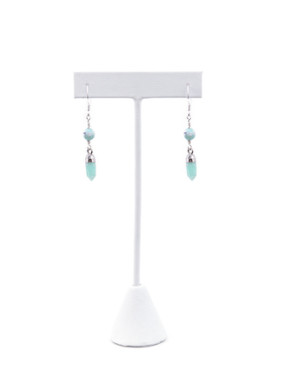 Bahia Amazonite and Agate Drop Earrings