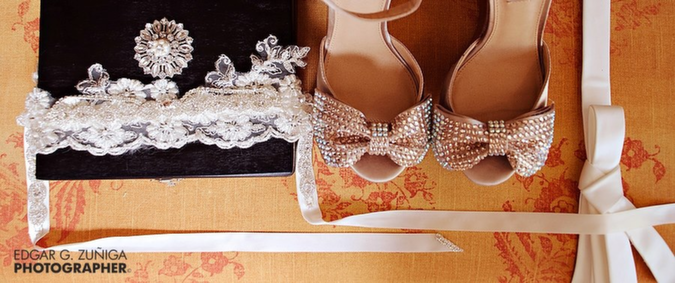 Lace and rhinestone custom headband by Chelsea Bond Jewelry