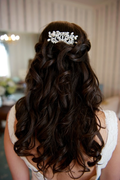 Lace Crystal Étoile Custom Bridal Hair Comb