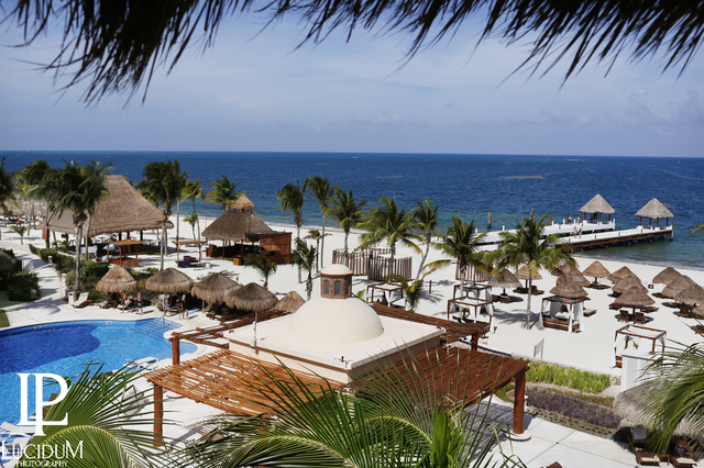 Overlooking the resort at Excellence Riviera Cancun