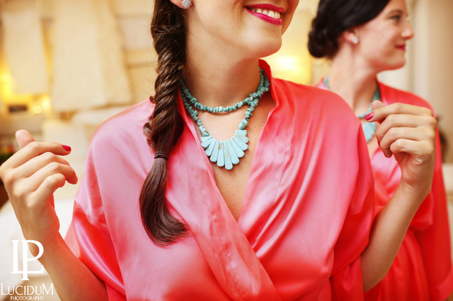 Turquoise Necklace bridesmaids jewelry by Chelsea Bond Jewelry.