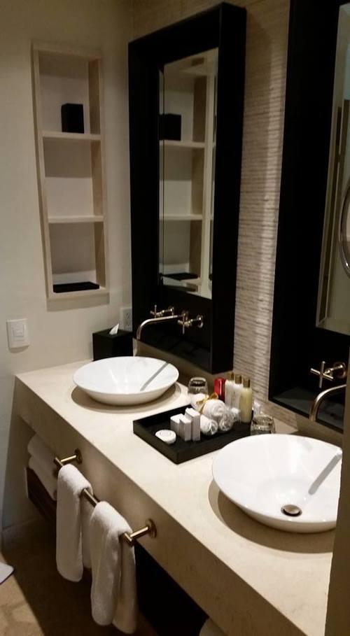 Bedroom in the Preferred Oceanfront Suite at Secrets Akumal Riviera Maya