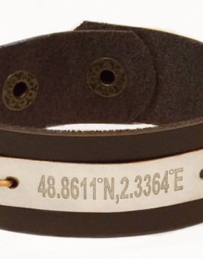 leather bracelet with gps