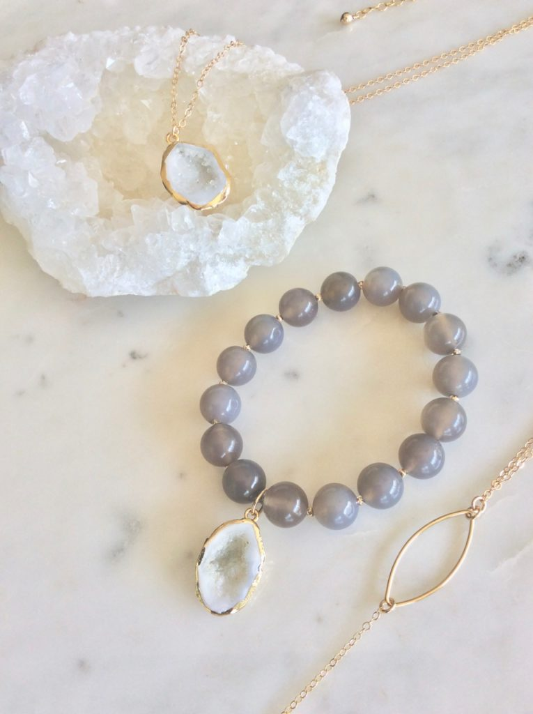 gemstone and druzy geodes