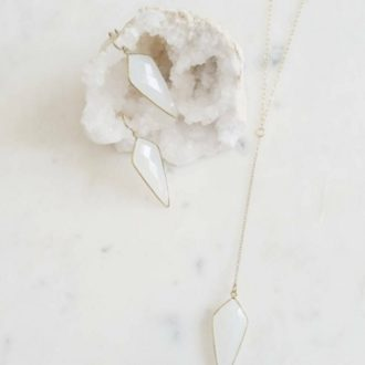 white gemstone jewelry set