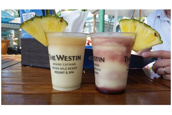 Tropical drinks in Grand Cayman