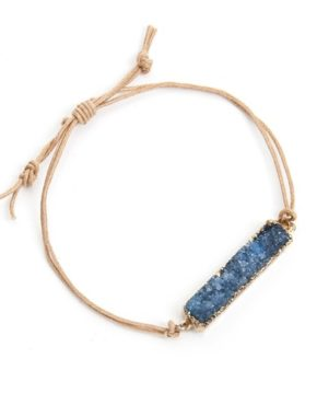 adjustable bracelet with druzy
