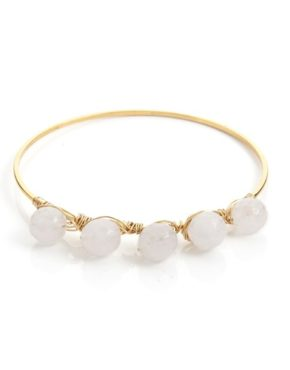 gemstone brass bangle