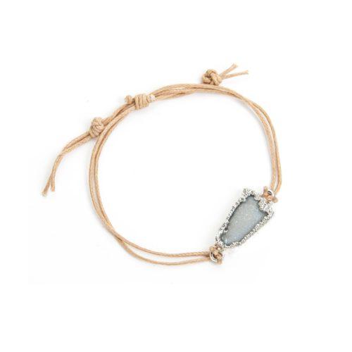 silver druzy bracelet