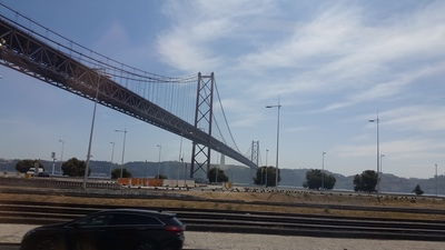 bridge in lisbon on tagus river