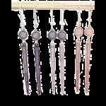 spike pave dangle earrings