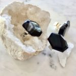 Hana Ring, Black and White Laced Agate Ring at Chelsea Bond Jewelry