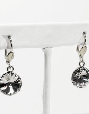 Kailua Earrings, Swarovski Crystal Rivoli Earrings at Chelsea Bond Jewelry