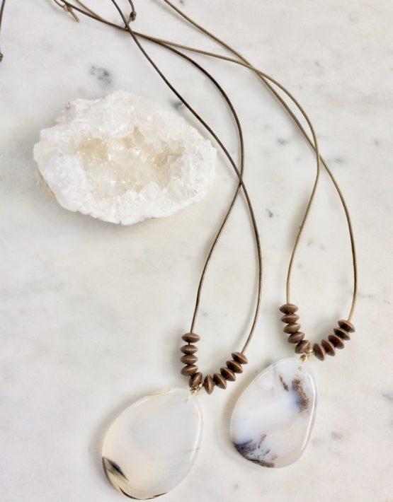 Maroma Necklace, Ebony Wood Beads Necklace at Chelsea Bond Jewelry