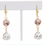Monaco Earrings, Swarovski Crystals Earrings at Chelsea Bond Jewelry