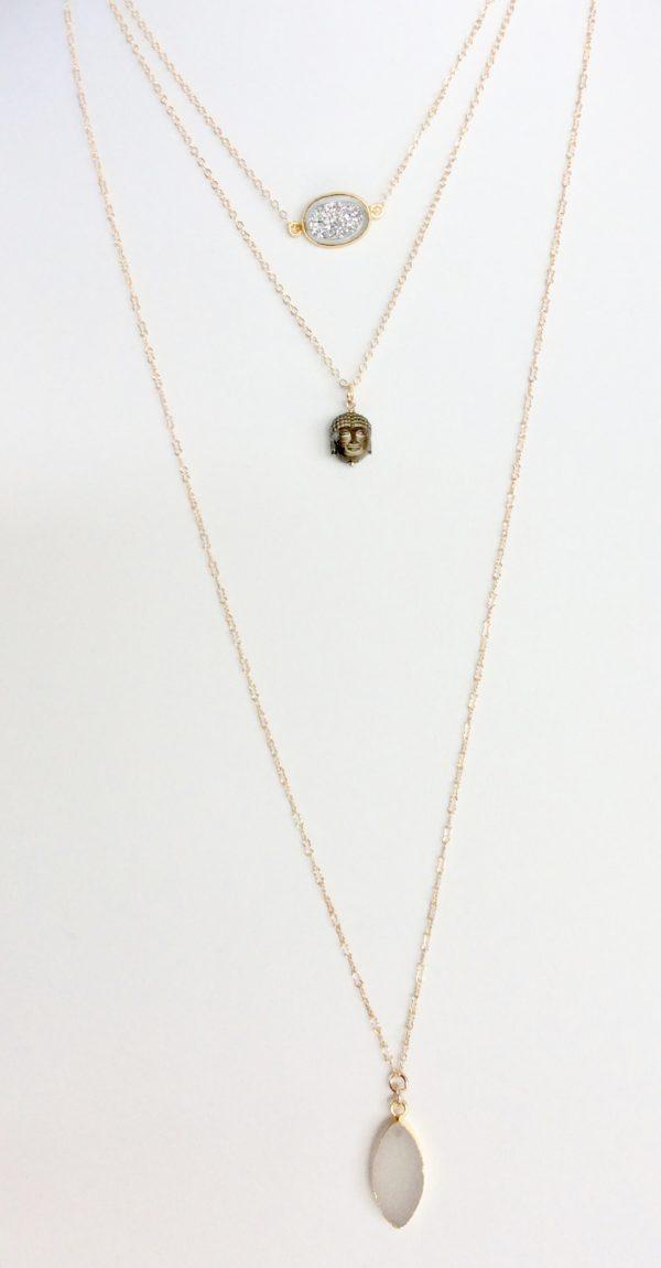 Thai Sunrise Buddha Necklace|Designer Gold Necklace at Chelsea Bond Jewelry