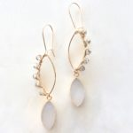 Druzy gold earrings with crystals