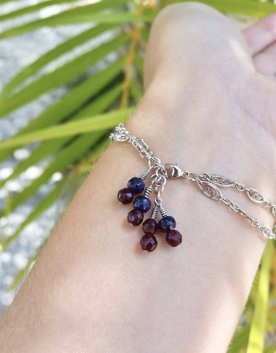 white gold amethyst and sapphire bracelet 3