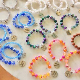 beaded bracelets by chelsea bond