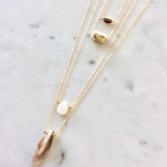 gold shell necklaces