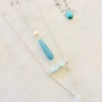 layered necklaces turquoise and silver