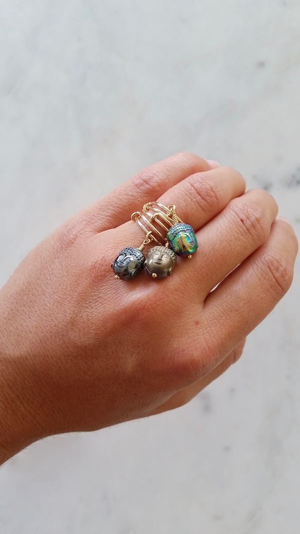 stackable buddha rings
