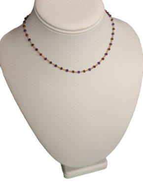 amethyst and garnet chain