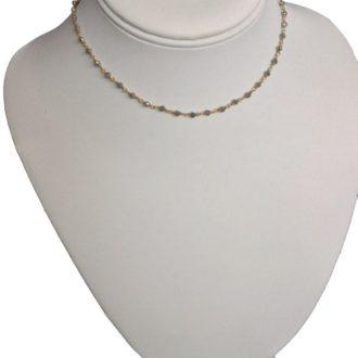 labradorite and gold choker necklace