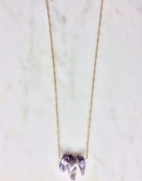 long amethyst gold necklace