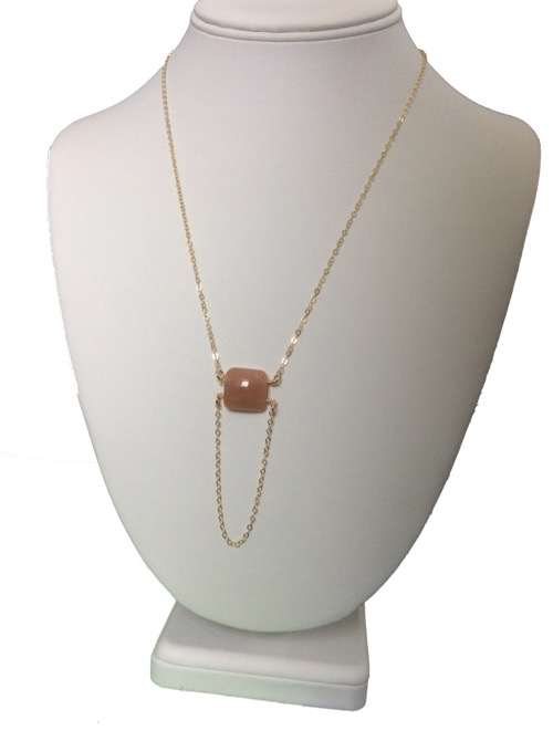 buy moonstone and gold hibiscus necklace