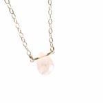rose quartz briolette necklace gold chain