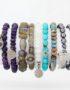 Diamond stretch bracelets to stack