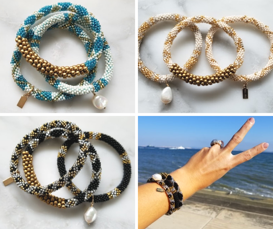 beaded bracelets by Chelsea bond