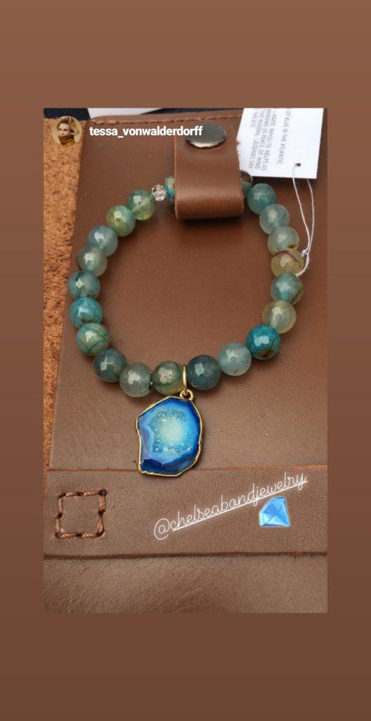 gemstone bracelet Chelsea bond jewelry