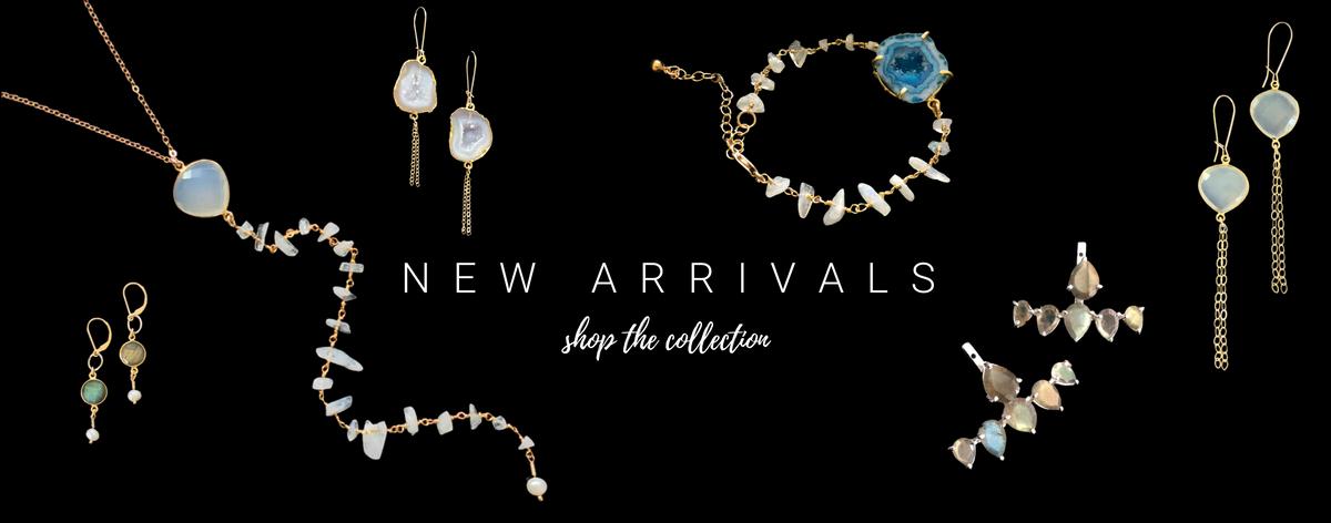 gemstone jewelry with druzies