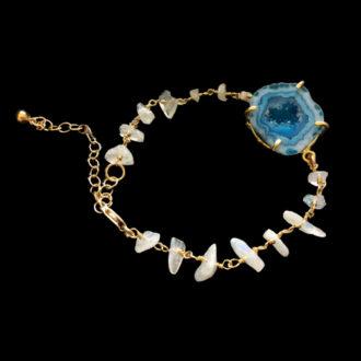 gemstone chain bracelet