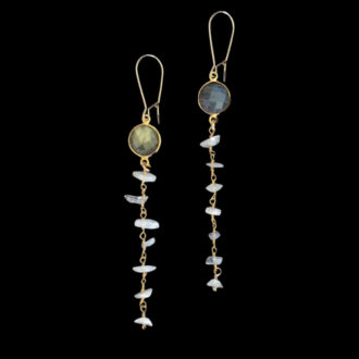 dangling gemstone earrings