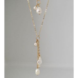 multi-pearl long necklace