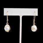 dressy earrings with pearls