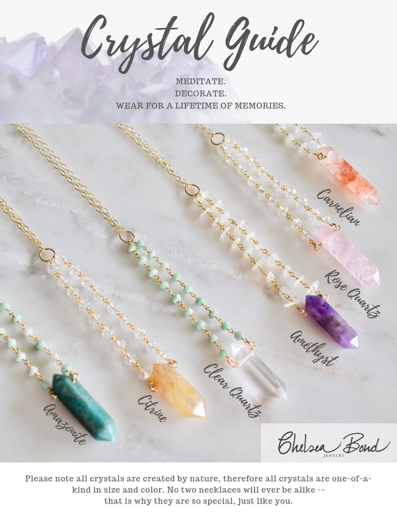 crystal necklace guide