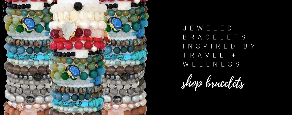 gemstone bracelet stacks by chelsea bond jewelry