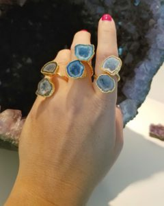 statement rings with druzy