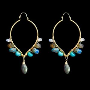 statement earrings with gemstones